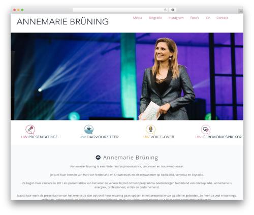 Presentatrice WP template - annemariebruning.com