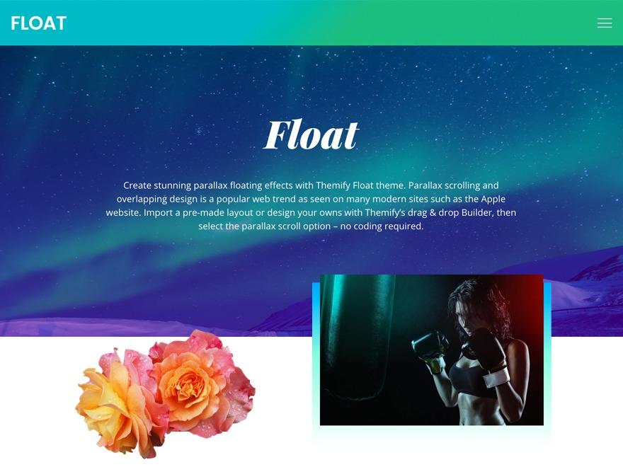Themify Float best WordPress template