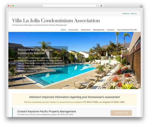 WordPress theme Spacious Pro - villalajollahoa.com