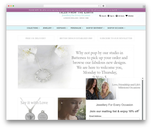 Accessories Woocommerce Theme WordPress shop theme - talesfromtheearth.com