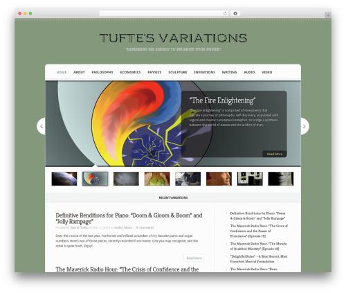 Aggregate WordPress page template - tuftesvariations.com