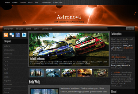 Astronova top WordPress theme