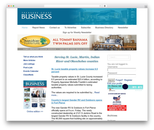 Avada WordPress theme design - tcbusiness.com