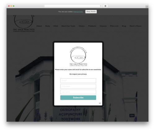 Best WordPress template Sentinel - thevalepractice.co.uk