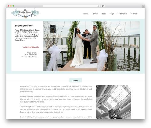Bridge best wedding WordPress theme - theweddingministerofnj.com