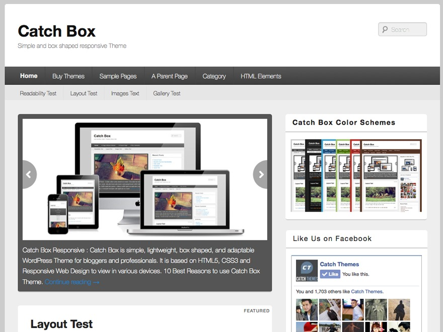 Catch Box Pro Child WordPress website template