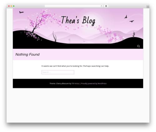 Cherry Blossom WordPress theme - theavance.com