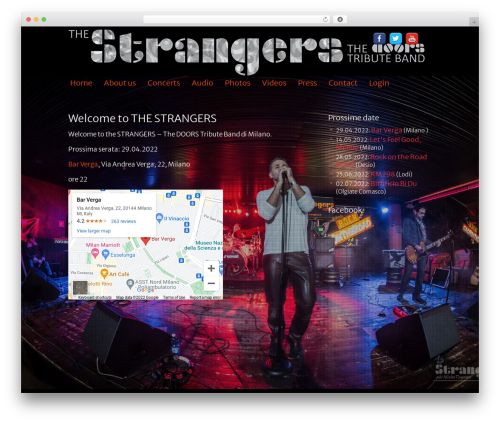 Clean Black WordPress photo theme - the-strangers.it