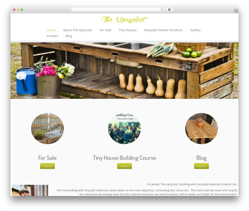 Customizr free WordPress theme - theupcyclist.com.au