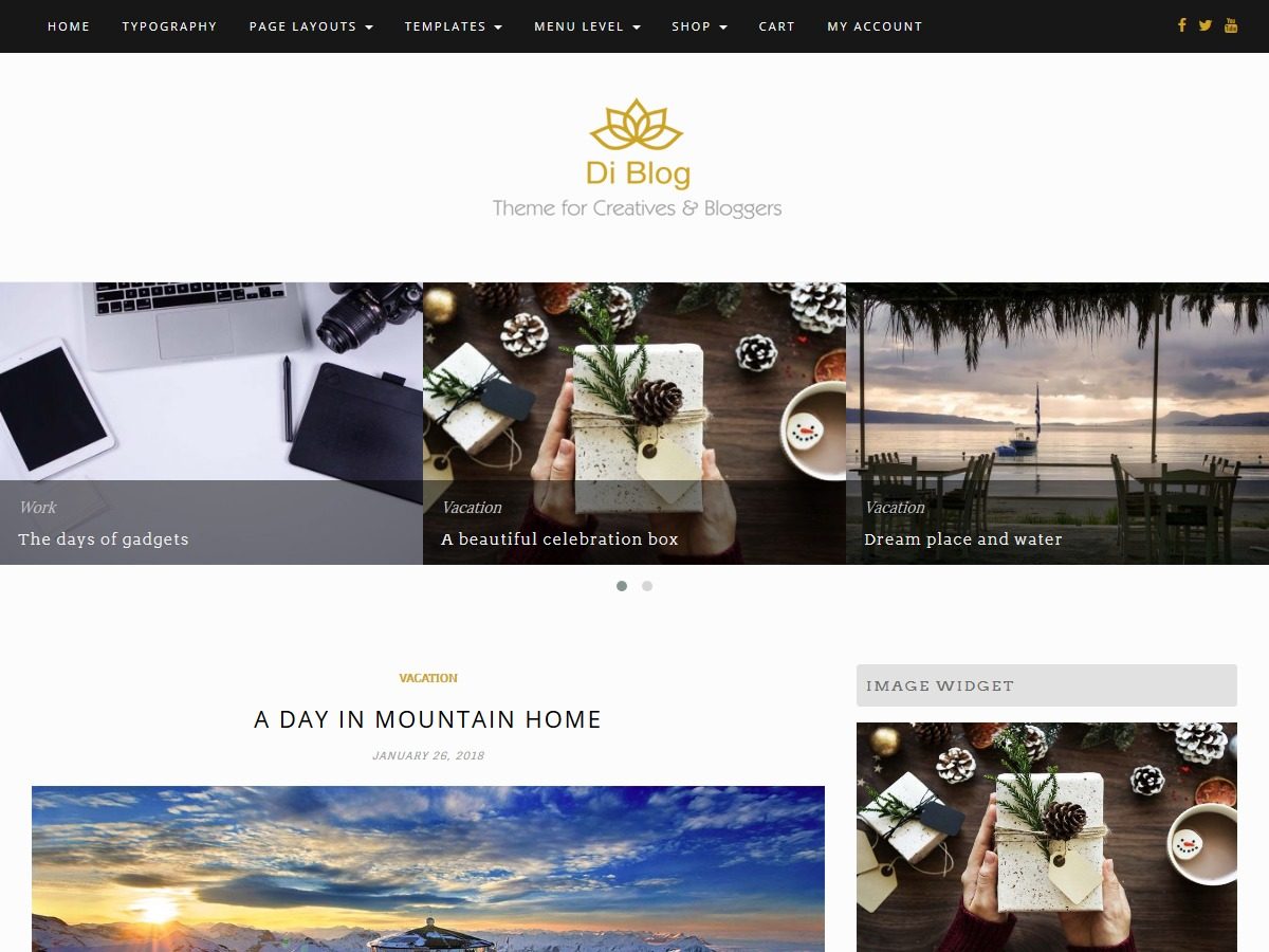 Di Blog best portfolio WordPress theme
