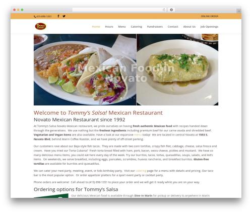 Divi best restaurant WordPress theme - tommyssalsa.com