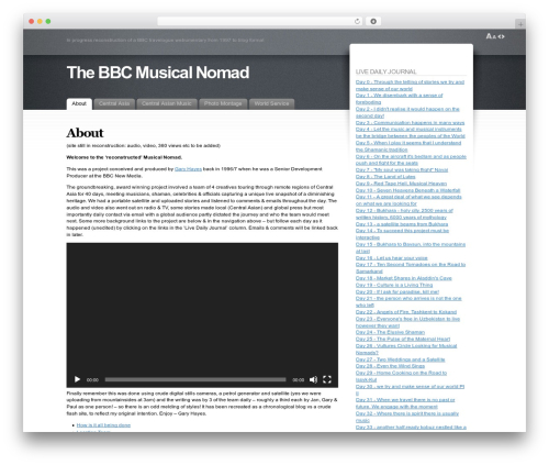 Fusion theme WordPress - themusicalnomad.com