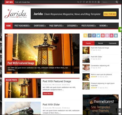 Jarida by TieLabs newspaper WordPress theme