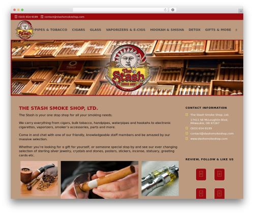 Jupiter WordPress template - thestashsmokeshop.com