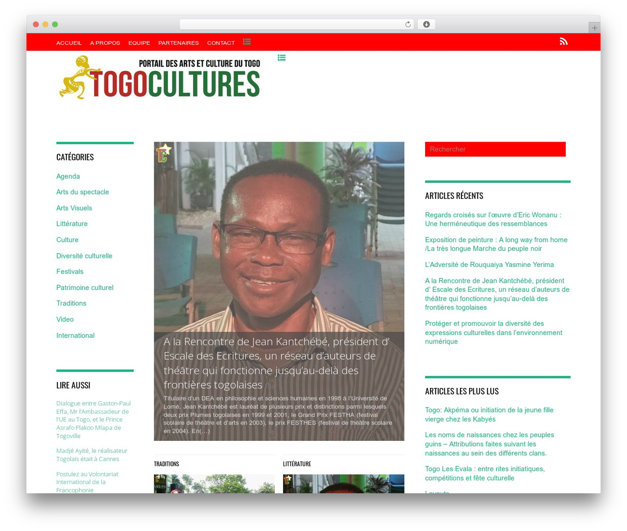 Magazine theme WordPress - togocultures.com