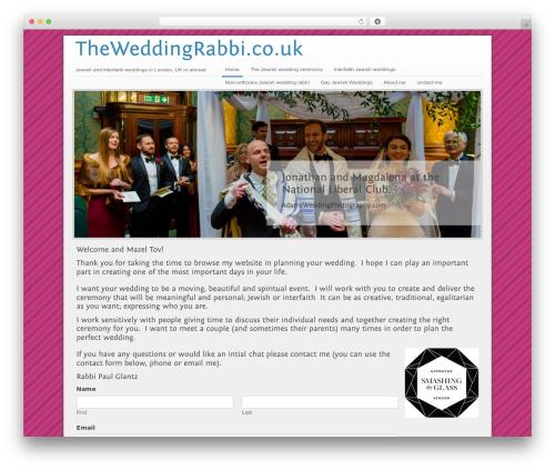 Megacorp WordPress wedding theme - theweddingrabbi.co.uk