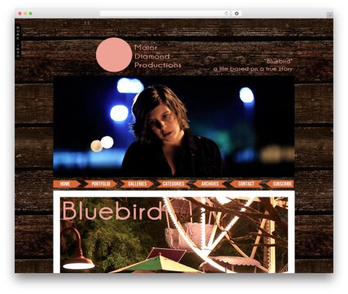 ProPhoto WordPress blog template - themoviebluebird.com