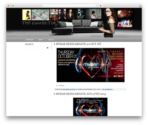 Relax WordPress theme design - theconnector.biz