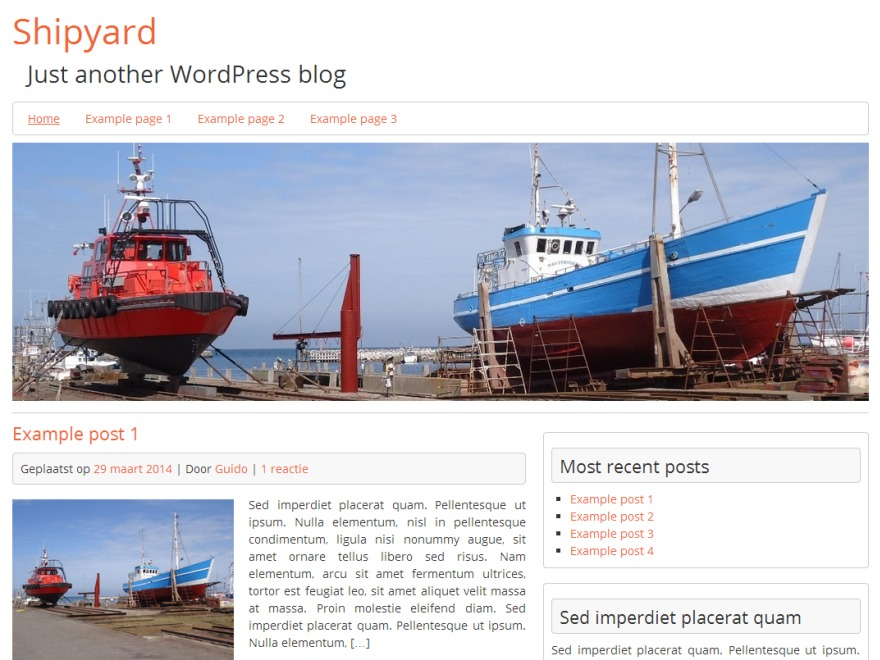 Shipyard WordPress blog theme