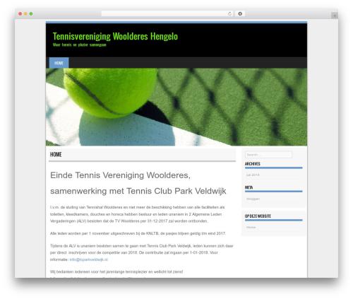 Sporty free WordPress theme - tvwoolderes.nl