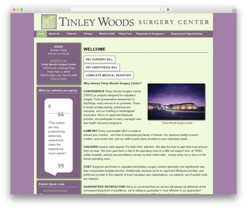 Template WordPress Weaver II - tinleywoodssc.mwsmg.com