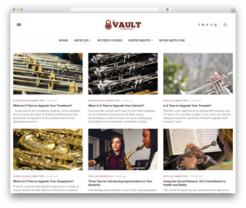 The Voux WordPress theme - thevault.musicarts.com