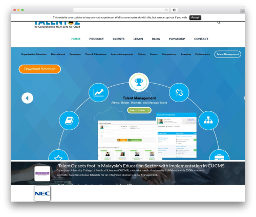 TheFox WordPress theme - talentoz.com