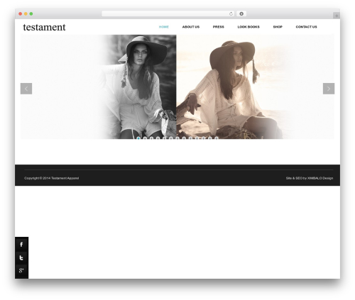 Theme WordPress Zeon - testamentapparel.com