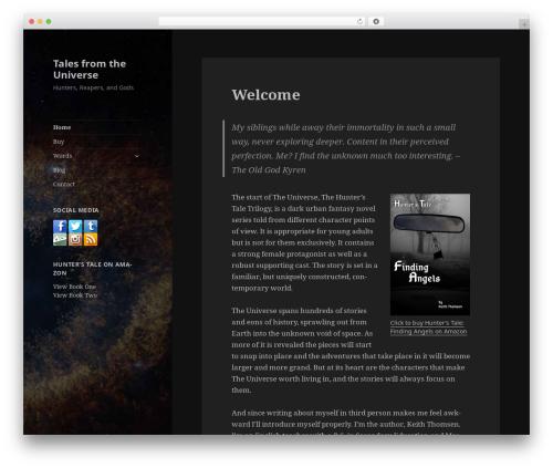 Twenty Fifteen template WordPress free - talesfromtheuniverse.com