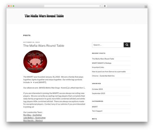 Twenty Seventeen WordPress theme design by the WordPress tea