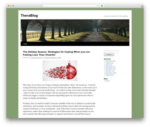 Twenty Ten best WordPress theme - therablog.samanthawakach.com