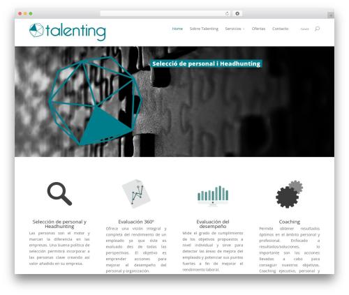 WordPress theme Divi - talenting.pro
