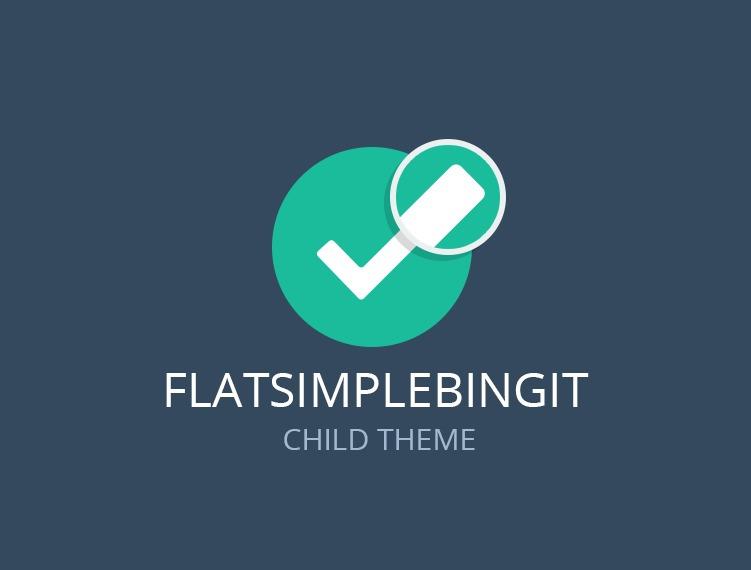 WordPress theme Flatsimplebingit Child