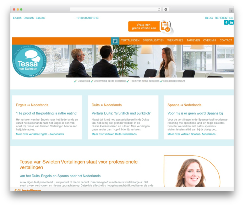 WordPress theme MODUS - tvsvertalingen.nl