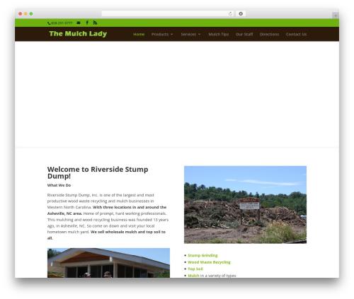 WordPress website template Divi - themulchlady.com