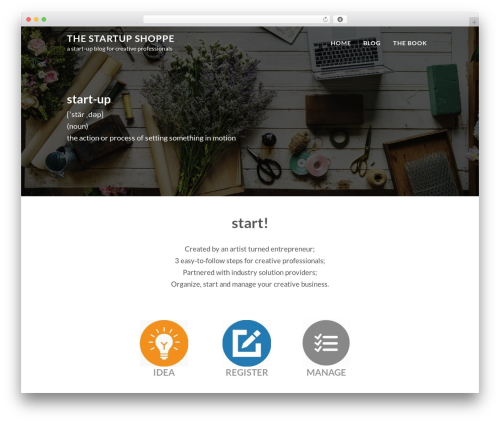 WordPress website template FastBlog - thestartupshoppe.com