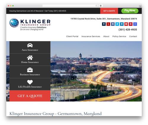 BrightFire Stellar WordPress template for business - klingerinsurancegroup.com