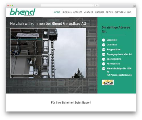 Divi WordPress page template - bhend-geruestbau.ch