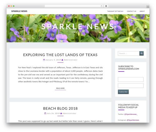 Nisarg best free WordPress theme - sparklenews.com