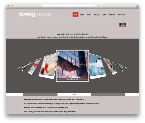 Tesla best free WordPress theme - dewey-records.com