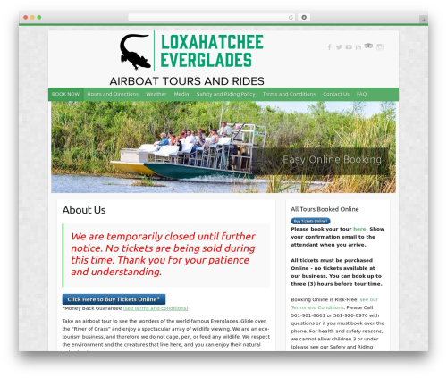 Travelify free WP theme - evergladesairboattours.com