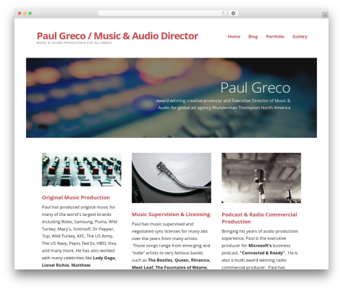 WordPress website template Ascension - paulgrecomusic.com