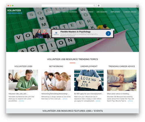 Avion WP theme - volunteerjobresource.com