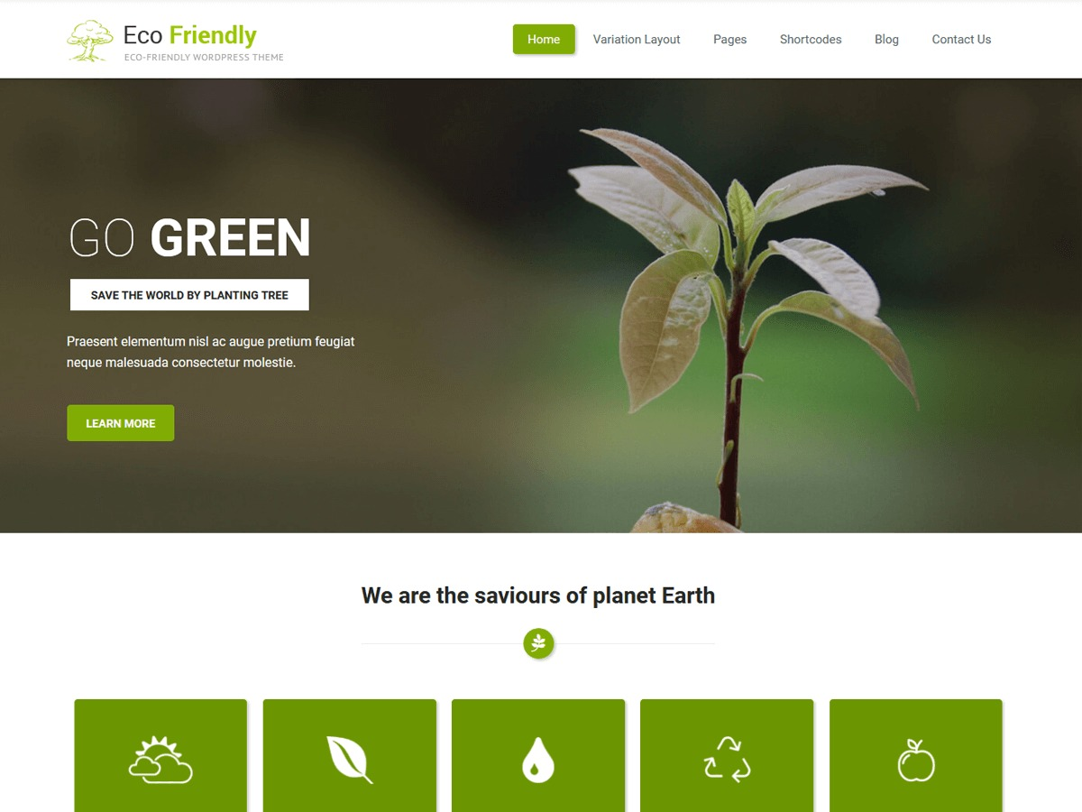 Eco Friendly Lite WordPress ecommerce template