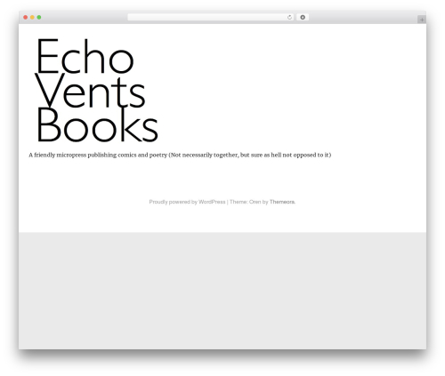 Oren best free WordPress theme - echovents.com