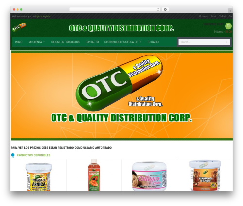 Theme WordPress WPO Shopping - otcqualityproducts.com