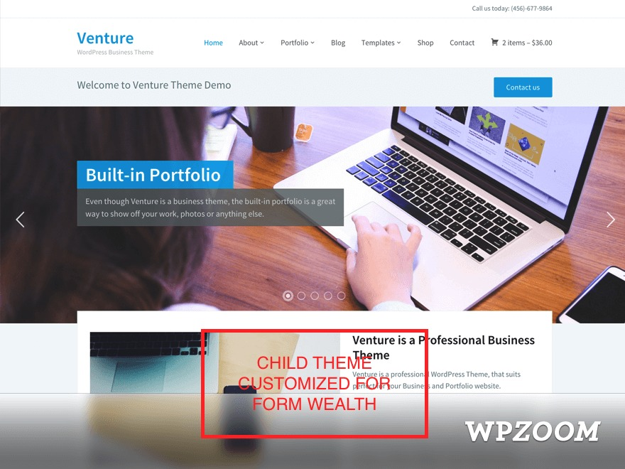 Venture Child Theme theme WordPress