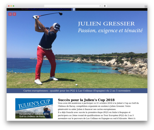 Best WordPress theme X - juliengressier.com