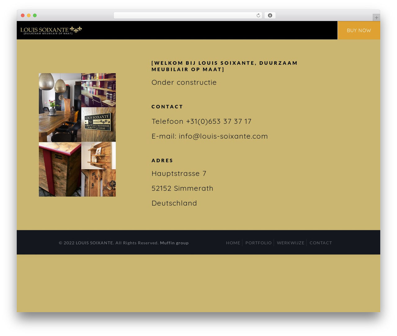 Betheme WordPress website template - louis-soixante.com