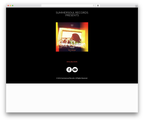 Betheme WP template - summersoulrecords.com